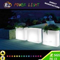 Wholesale Outdoor Furniture Decorative Waterproof Illuminated LED Plastic Pot from china suppliers