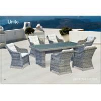 Wholesale Metal Rattan Wicker Garden Patio Table Set Dinning Furniture For Garden / Backyard from china suppliers