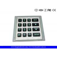 Wholesale IP 65 Access Control Keypad With Green Backlight , 16 Key Keypad from china suppliers
