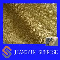 Wholesale Gold Shinning Leather Fabric For Shoes And Handbags, thickness 0.7mm from china suppliers