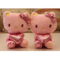 Wholesale Pink Stuffed Kitty Toy Sitting For Gifts / Heart Pillows Kitty Plush Toys from china suppliers