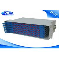 Wholesale Light Gray 48 Port Fiber Optic Patch Panel , Fiber Optic Splice Tray For FTTX Systems from china suppliers