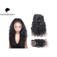 Wholesale Full Cuticle Brazilian Natural Black 7A Virgin Hair 4*4 lace closure from china suppliers