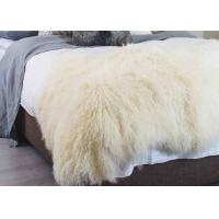 Wholesale Curly Hair Extra Large Mongolian Sheepskin Rug With Natural Tibet Lamb Skin from china suppliers