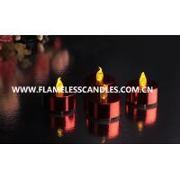 Wholesale Metallic LED Battery Operated Tealight Candles / Plastic Indoor LED Window Candles from china suppliers