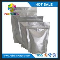 Wholesale Eco-friendly Silver Aluminium Foil Pouch Ziplock Stand Up Gravure Printing from china suppliers