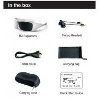 Wholesale Romote Control Bluetooth Headset Sunglasses For Enjoying Music , Answering Call from china suppliers