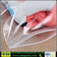 Quality Clear Plastic Slider Zipper Bag for Clothes Packing for sale