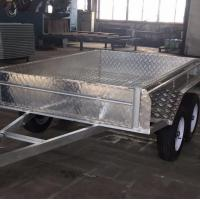 Wholesale Double Axle Aluminum Trailer 8x5 Box Trailer With 350mm Deep Tray from china suppliers