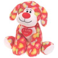 Wholesale Custom Stuffed Animal Dogs With Red Heart , Fashion Small Plush Dog from china suppliers