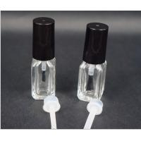 Buy cheap 4ml Square Glass Bottle for Nail Polish with black cap and brush from wholesalers
