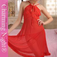 Wholesale Red Erotic Transparent Adult Sexy Night Dress Lingerie long gowns Nylon Polyester from china suppliers