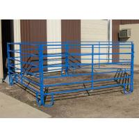 Quality 1.8M X 2.1M Cattle yard panels hot dipped galvanized 14 microns silver painted for sale