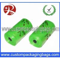 Wholesale Custom Green LDPE / EPI Biodegradable Dog Poop Bags With Roll For Dog from china suppliers