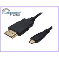 Wholesale 3FT, 6FT, 10FT 24K Gold plated 19 pin 1080P Micro HDMI Cables rejection of EMI and RFI from china suppliers