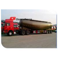 Wholesale Large Volume Cement Bulker Trailer , Durable Tri - Axle Cement Tanker Trailer from china suppliers