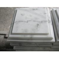 Wholesale Marble Wall Coping Guangxi White Marble Pillar Cap China Carrara Marble Pier Cap Finials from china suppliers