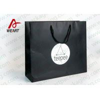 Wholesale Matt Black Branded Personalised Paper Carrier Bags For Party Nylon Rope from china suppliers