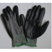 Wholesale Knitted Seamless Grey Nylon Liner Protective Hand Gloves With Black Nitrile Coated from china suppliers
