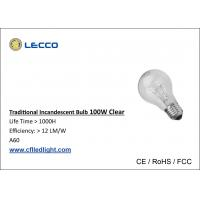 Wholesale 100 Watt Traditional Incandescent Light Bulbs E27 A60 Nickelplated Aluminum from china suppliers