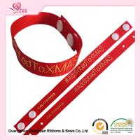 "Wholesale 6/8"" Red Grossgrain Ribbon , Custom Printed Grosgrain Ribbon With Hot Stamping Logo For Apparel Hangtag from china suppliers"
