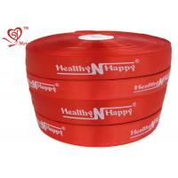 Wholesale Personalized Words red stain Custom Printed Ribbon Silk Printing from china suppliers