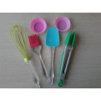 Wholesale Food Safe Non-stick Silicone Baking Set LFGB , Pink Heart Resist Cake Baking Equipment from china suppliers