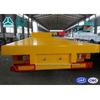 Quality Tri - Axle Semi Low Bed Trailer 100 Ton For Transport Heavy Equipment , Carbon Steel for sale