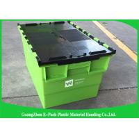 Wholesale Transportation Turnover Box / Industrial Storage Containers with Plastic Attached Lid from china suppliers