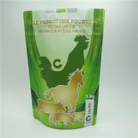 Wholesale Resealable Plastic Pouches Packaging , Zipper Pet Food Bag For Animal Supplement from china suppliers