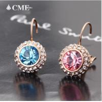 Wholesale Ref No.:405051 Romantic Crystal Elements Swarovski fit earrings shared heart collection costume fashion jewelry wholesal from china suppliers