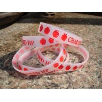 Buy cheap logo debossed with filling color silicone wristband from wholesalers