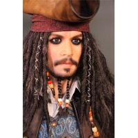 Wholesale Hollywood Silicone Celebrity Wax Figures Life Size Jack Sparrow Statue Wax Figures from china suppliers