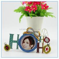 Wholesale Shinny Gifts Alloy handmade enamel photo frame with art design for wedding gifts from china suppliers