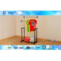 Wholesale Double Pole Standing Metal Clothes Rack , Home / Store Metal Clothes Drying Rack from china suppliers