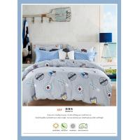 Wholesale 4 Piece Natural Cotton Bedding Sets , Double Size Cotton King Size Comforter Sets from china suppliers