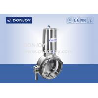 Wholesale Sanitary level 2 inch powder butterfly valves with stainless steel actuator from china suppliers