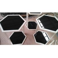 Greenhouse Black Tempered Glass Tabletop , Tempered Plate Glass Hexagon