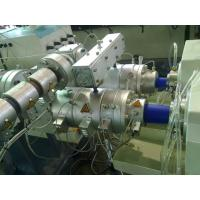 Quality Double Outlet PVC Pipe Extrusion Line , ABB Inverter PPR Pipe Extrusion Machine for sale