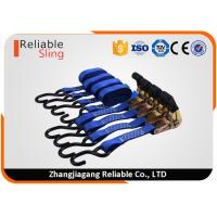 Wholesale Multi Color Certified 4 Set of Polyester Tension Belt with Ratchet and S Hooks from china suppliers