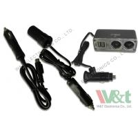 Wholesale iPad 24V 12V DC Power Cable 2 USB / 2 DC Socket Cigarette Lighter Adapter from china suppliers