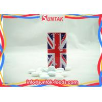 Wholesale British Style Travel Sugar Free Mint Candy , Tin Box Triangle Shaped Candy from china suppliers