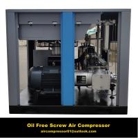 single screw Oil free screw air compressor compressor for food medical instrument for sale