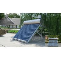 Buy cheap 20 Tubes Vacuum Tube Solar Water Heater With Small Tank For Mauritius Market from wholesalers