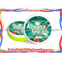 Wholesale Sour Watermelon After Dinner Candy / Mints In Round Box Custom Logo from china suppliers