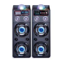 Wholesale Dual 10 Inch Portable PA Speaker System Bluetooth Disco Light Speaker For Party from china suppliers