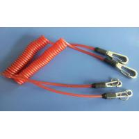 Wholesale Safety orange lanyard spring coil with heavy duty snap hooks for attaching valuable items from china suppliers