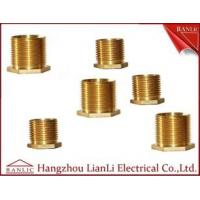 Wholesale Brass Male Bush Brass Electrical Wiring Accessories Long Hexagon Head GI Thread from china suppliers