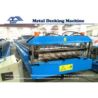 Wholesale Roof Decking Roll Forming Machine For 0.8-1.6mm Thickness PPGI Sheet from china suppliers