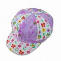Wholesale Women's Bakerboy Hat with All-over Floral Prints, Made of 100% Cotton Twill from china suppliers